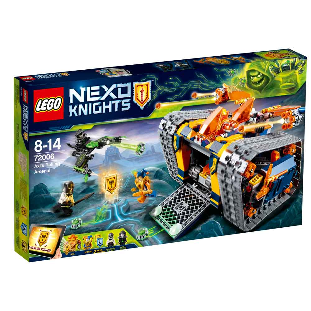 LEGO NEXO KNIGHTS KNIGHT AXL ROLLING ARSENAL