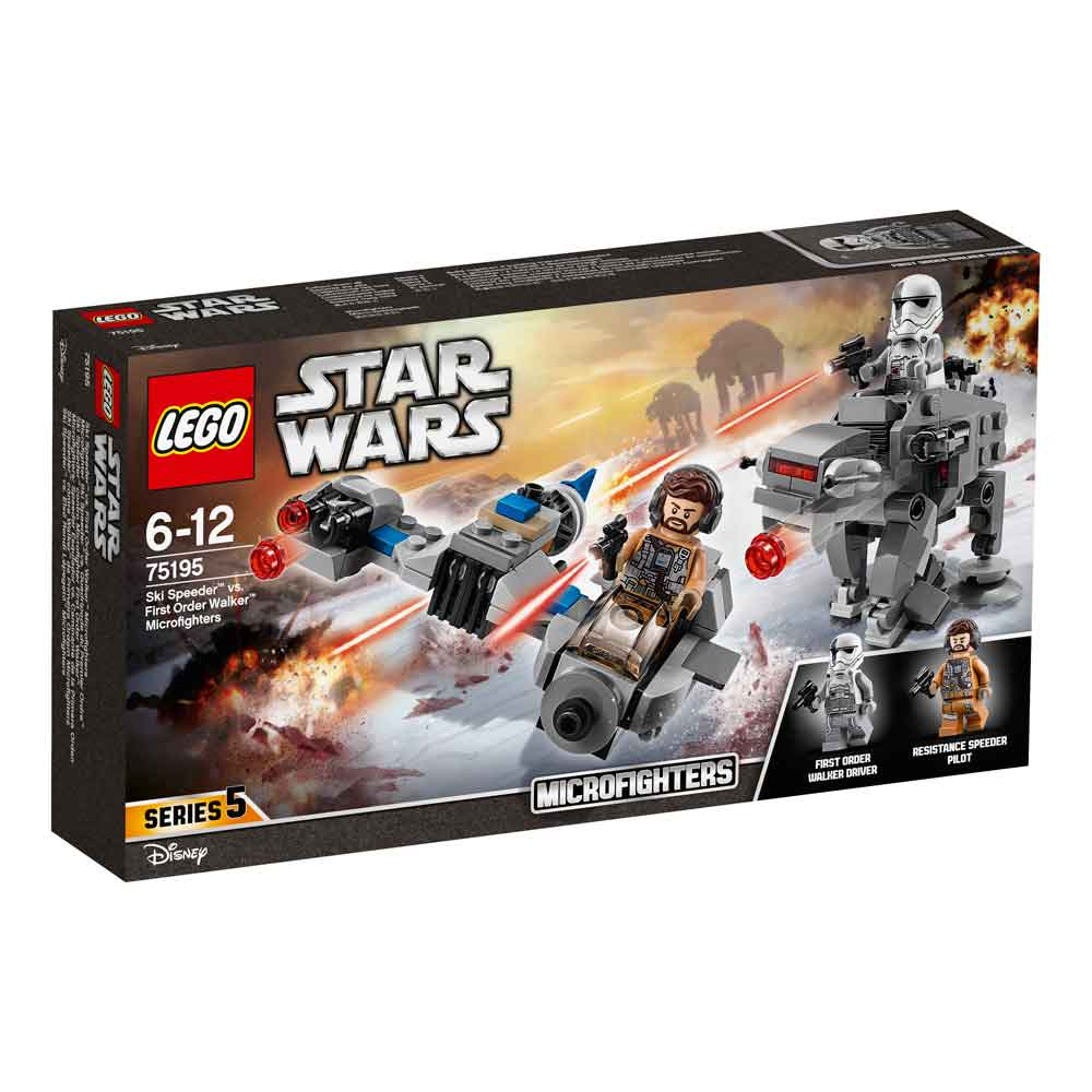 LEGO STAR WARS SKI SPEEDER VS FIRST ORDER WALKER MICROFIGHTERS