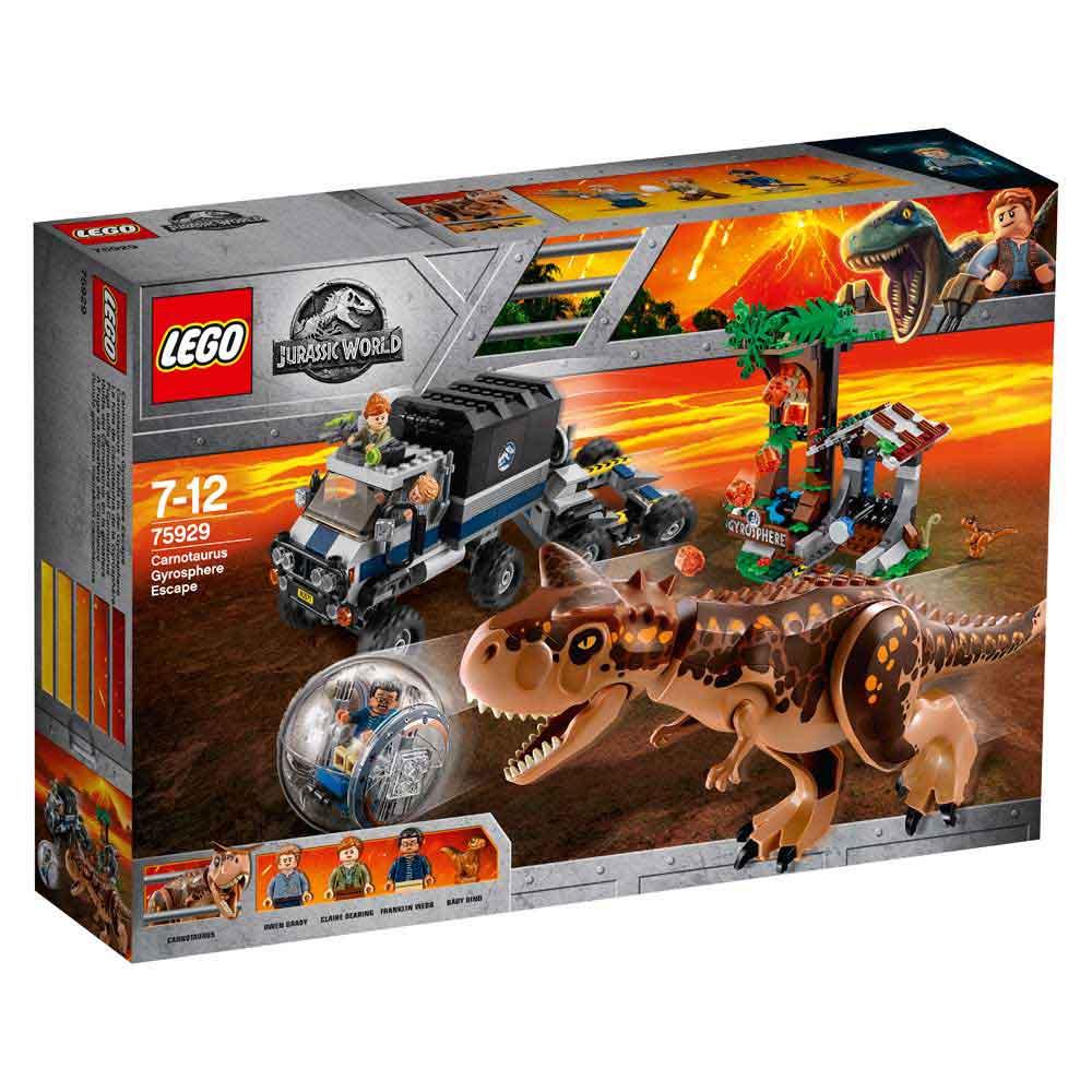 LEGO JURASSIC WORLD CARNOTAURUS GYROSPHERE ESCAPE
