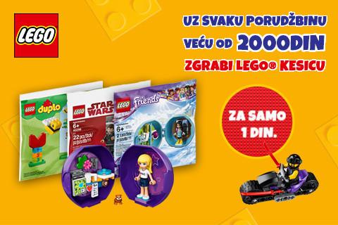 Zgrabi LEGO® kesicu za 1 dinar!