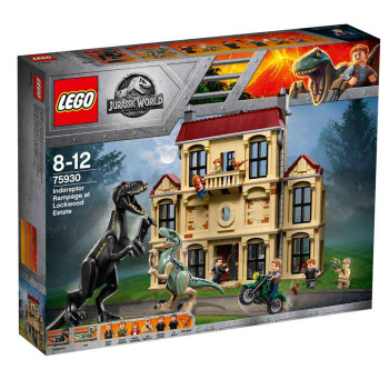 LEGO JURASSIC WORLD INDORAPTOR RAMPAGE AT LOCKWO..