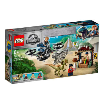 LEGO JURASSIC DILOPHOSAURUS ON THE LOOSE