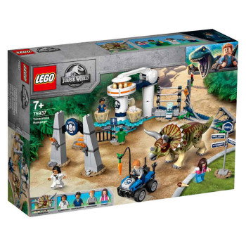 LEGO JURASSIC WORLD TRYCERATOPS RAMPAGE