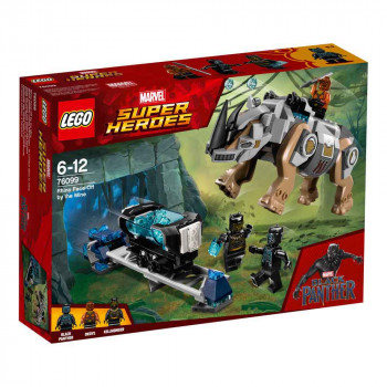 LEGO SUPER HEROES RHINO FACE OFF BY THE MINE