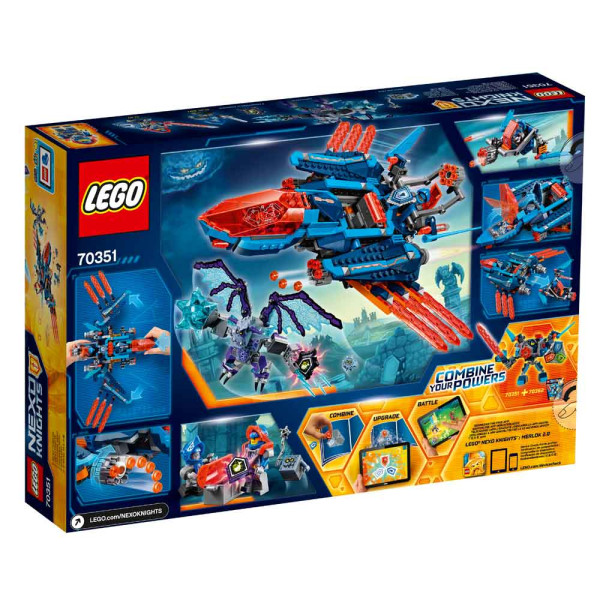 LEGO NEXO KNIGHTS CLAY'S FALCON FIGHTER BLASTER