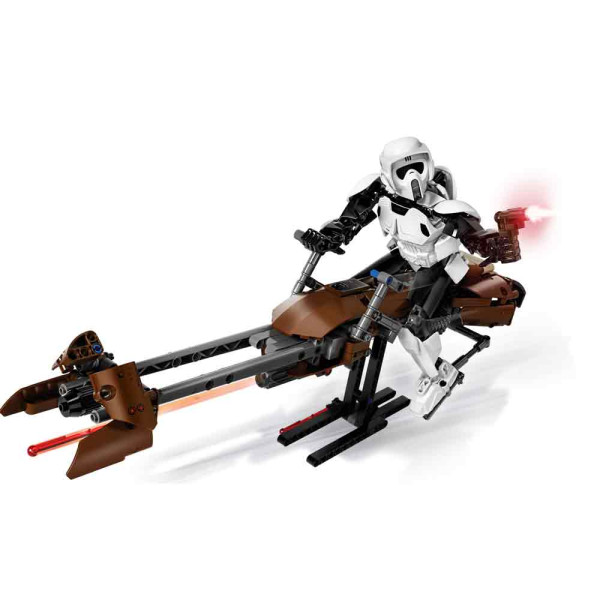 LEGO STAR WARS SCOUT TROOPER & SPEEDER BIKE