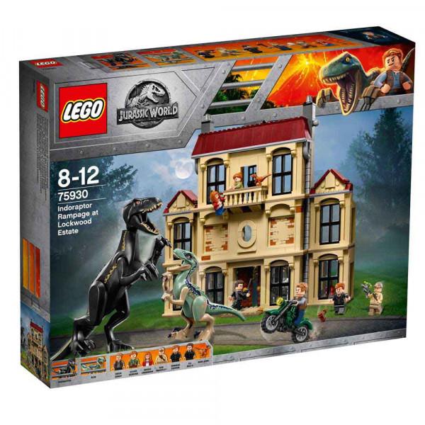 LEGO JURASSIC WORLD INDORAPTOR RAMPAGE AT LOCKWO..