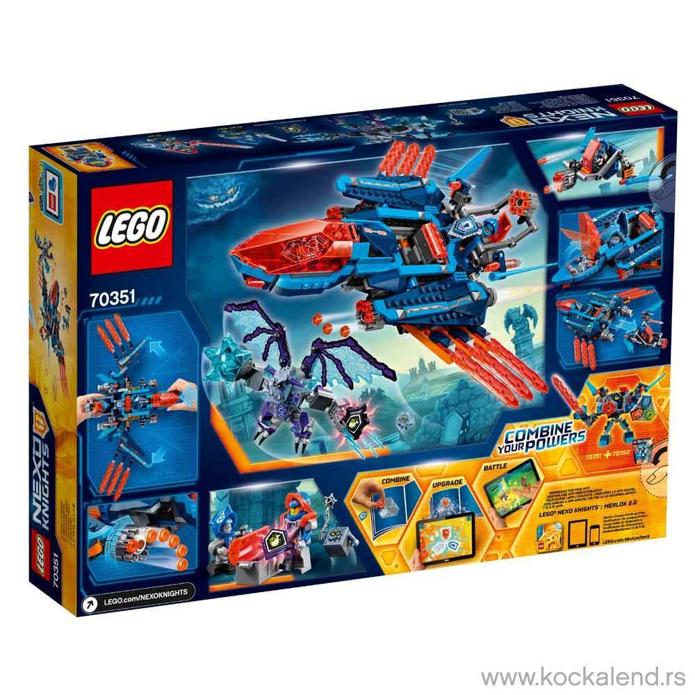 LEGO NEXO KNIGHTS CLAY'S FALCON FIGHTER BLASTER