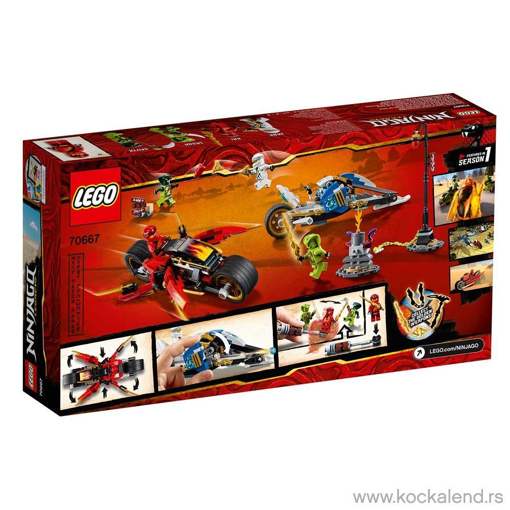 LEGO NINJAGO KAI'S BLADE CYCLE & ZANE'S