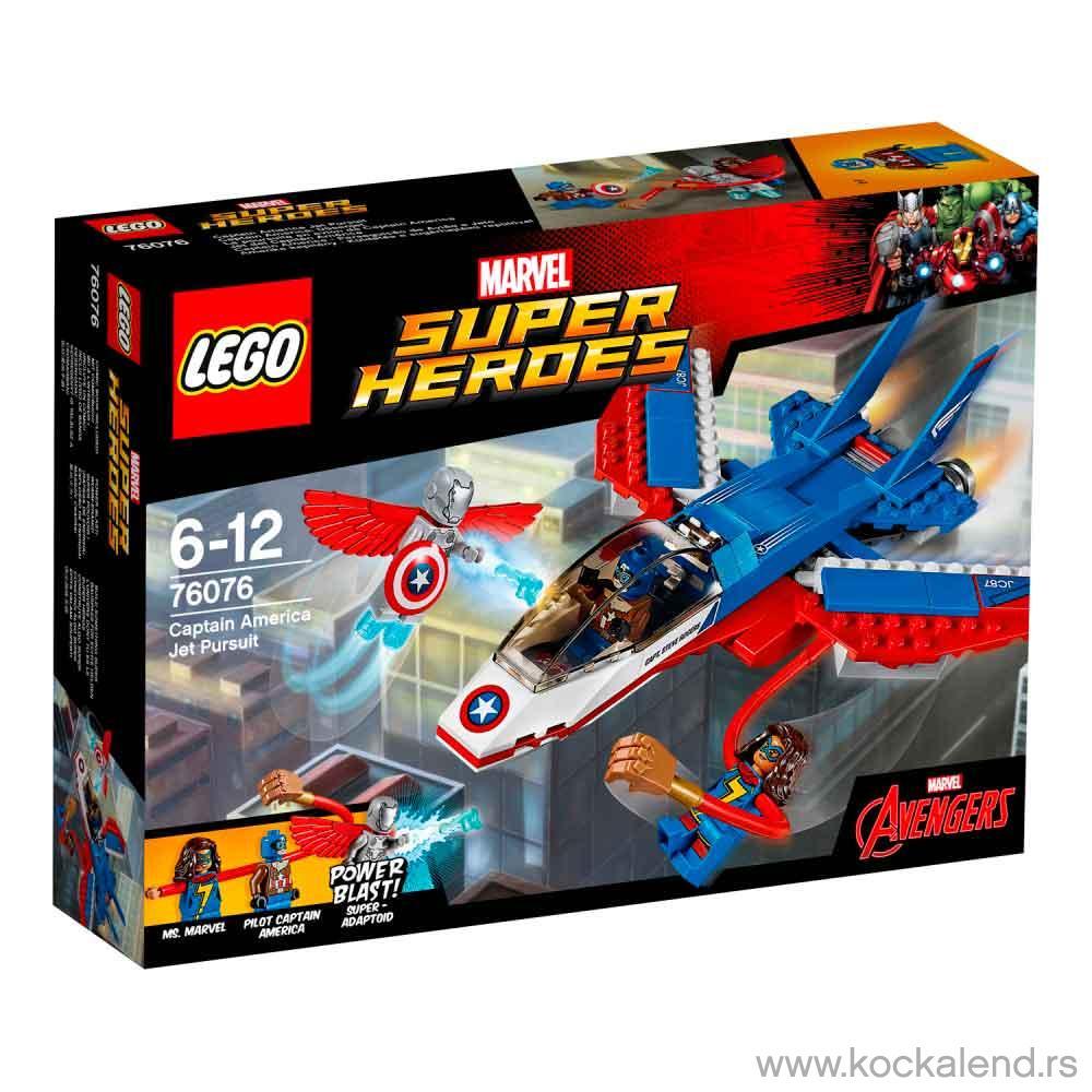 LEGO SUPER HEROES CAPTAIN AMERICA JET PURSUIT