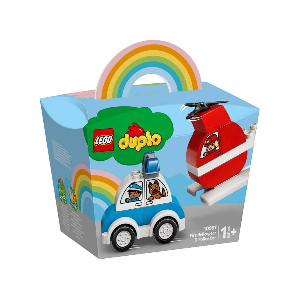 LEGO DUPLO MY FIRST FIRE HELICOPTER & POLICE CAR