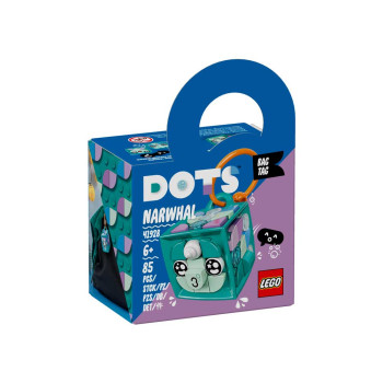 LEGO DOTS BAG TAG NARWHAL