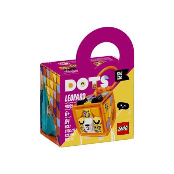 LEGO DOTS BAG TAG LEOPARD