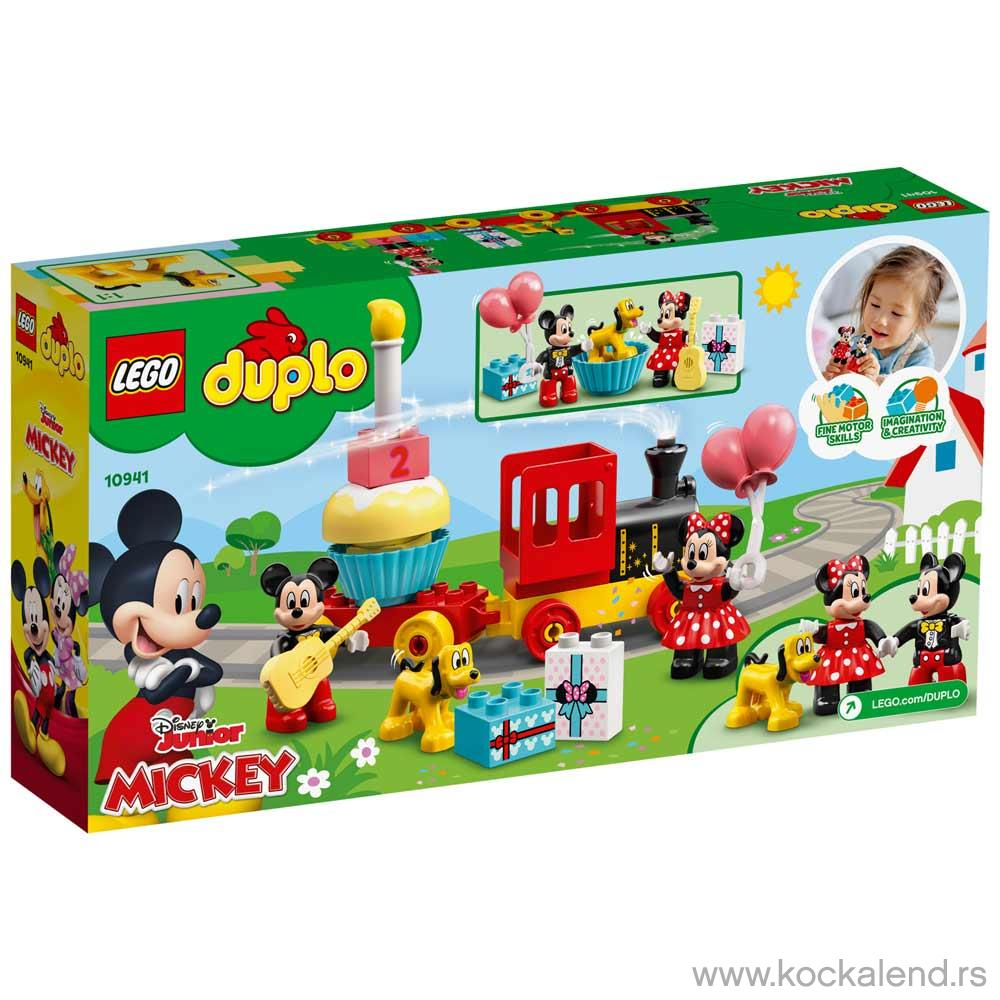LEGO DUPLO DISNEY TM MICKEY & MINNIE BIRTHDAY TRAIN