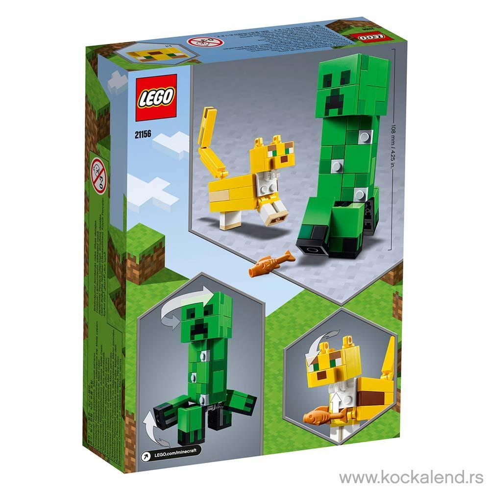 LEGO MINECRAFT BIGFIG CREEPER AND OCELOT