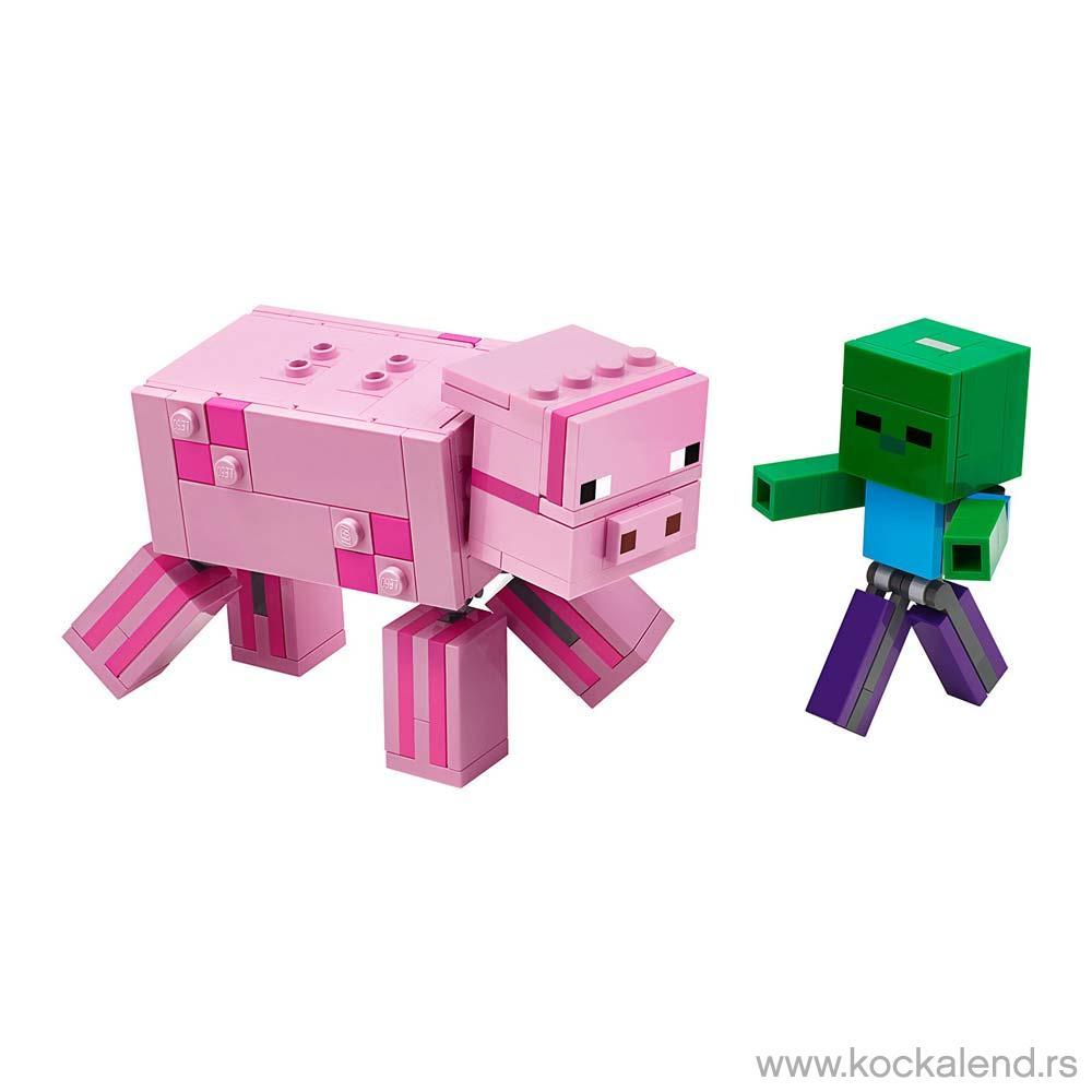 LEGO MINECRAFT BIGFIG PIG WITH BABY ZOMBIE