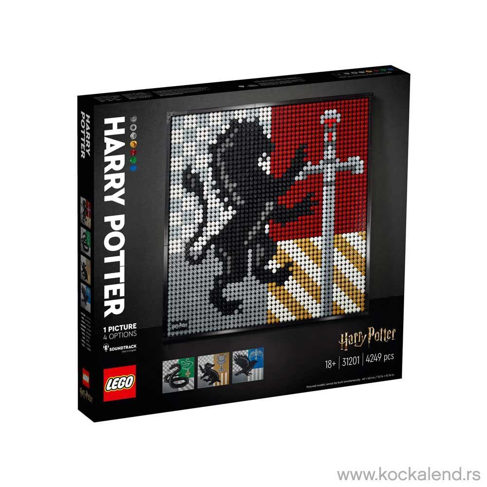 LEGO ART HARRY POTTER HOGWARTS CRESTS