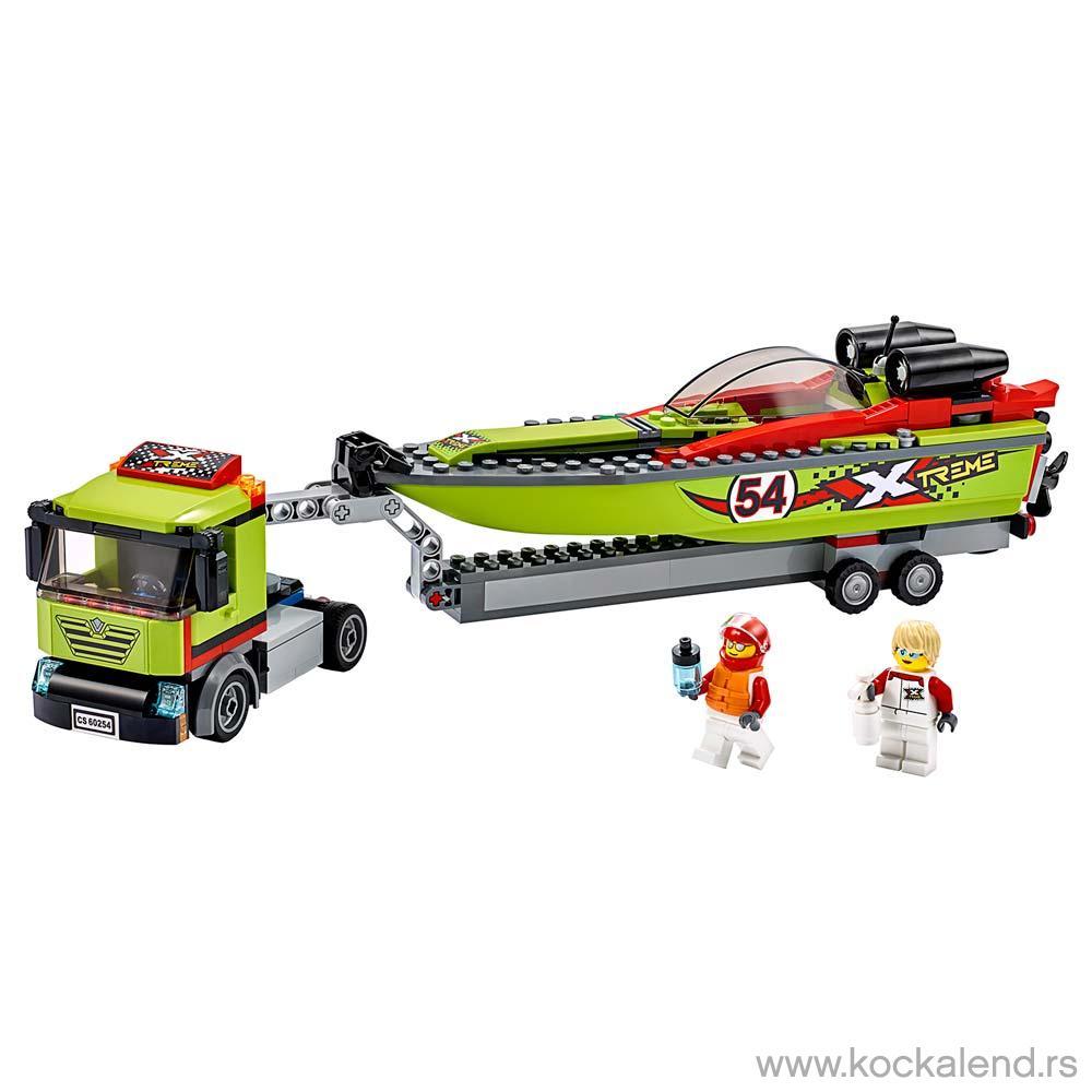 LEGO CITY RACE BOAT TRANSPORTER