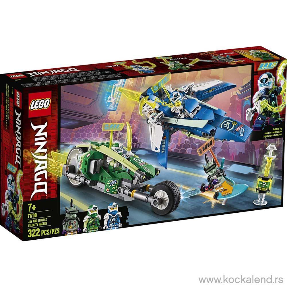 LEGO NINJAGO JAY AND LLOYDS VELOCITY RACERS